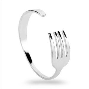 The Funky Foodie Fork ~ Art Deco Cuff Bracelet